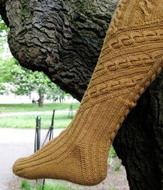 Treetop Socks - Knitty, Summer 2009 - free