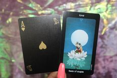 Ace of Hearts + Two of Cups 💜💖🃏. Two Of Cups, Ace Of Hearts, Something New, Heart Cards, New Love, Tarot Decks, Bee, Romance, Birth