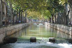 Canal de la Fontaine  - Nîmes  - France