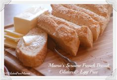 Baking the perfect loaf of Mama's Sesame French Bread has never been so simple! Crusty on the outside, moist and delicious on the inside #Glutenfree & #EggFree http://bit.ly/1i1SuMa