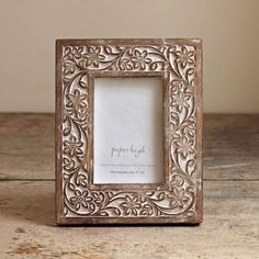 antique look flower photo frame by paper high | notonthehighstreet.com