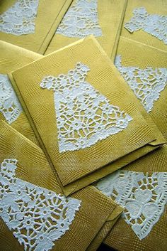 doilies as dresses on cards. My mom bought me a paper dress when that was really cutting edge in the '60s.