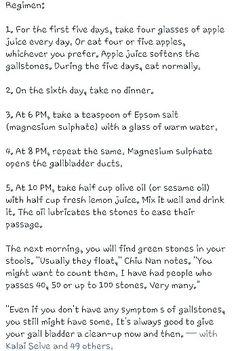 Gallstone remedy