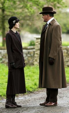 Downton Abbey ~ Lady Mary and father Robert