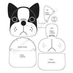 Free Sewing Patterns To Make Cute Boston Terrier Inspired Puppy Coin Purse . - Free sewing patterns to cute Boston Terrier inspired Puppy Coin Purse with z … – fabric- bags, - Boston Terriers, Terrier Puppies, Puppies Puppies, Sewing Hacks, Sewing Tutorials, Sewing Crafts, Sewing Tips, Easy Sewing Patterns, Quilted Purse Patterns