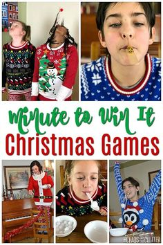 Minute to Win It Games Christmas Edition