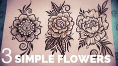 In this real time henna tutorial I will show you 3 different but simple and easy henna flowers for beginner henna artists in a step by step format. Henna Designs Back, Floral Henna Designs, Mehandi Designs Easy, Simple Arabic Mehndi Designs, Mehndi Designs For Beginners, Mehndi Simple, Beautiful Mehndi Design, Mehndi Designs For Hands, Simple Henna Flower