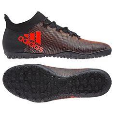 Chuteira Society Adidas X 17.3 TF Masculina - Preto e Laranja - Compre Agora 71d2295fe9bac
