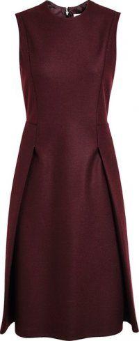 Jil Sander - Felt Wool Pencil Dress Dress Skirt, Peplum Dress, Dressed To Kill, Color Of The Year, Pencil Dress, Jil Sander, Pantone Color, Wool Felt, Burgundy