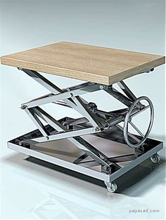 DIY coffee table - Cool coffee table design of steel Coffee Table Plans, Cool Coffee Tables, Metal Projects, Welding Projects, Coffe Table Design, Sheet Metal Tools, Scissors Design, Lift Table, Lift Design