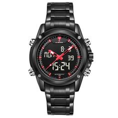 Punk Style men watch Stainless Steel casual business wristwatch with zinc alloy dial waterproof sport watch male clock 2018 new