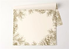 """""""Gold Pinecones"""" Paper Placemats"""