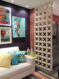 Decoração com tijolo cobogó - Luiza Gomes Modern Interior Design, Interior Architecture, Wholesale Home Decor, House Windows, Interiores Design, Home Decor Accessories, Decoration, Home Fashion, Home And Living