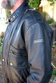 Hein Gericke ~Motorcycle~Biker~ Leather Jacket~VTG~ Black Size 40