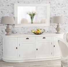 Komoda Brighton 4 drzwi + 2 szuflady white, 210x50x86cm - #white #meble #biale #furniture #komoda #interior #idea #design