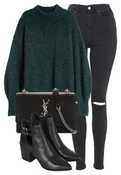"""Untitled #7013"" by laurenmboot ❤ liked on Polyvore featuring Topshop and Yves Saint Laurent"