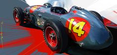 Super slick painting by Hyundai/Genesis design manager John Krsteski. Indy Car Racing, Indy Cars, Carros Lamborghini, Industrial Design Sketch, Car Illustration, Car Posters, Automotive Art, Automotive Industry, Car Sketch