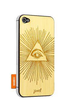 All Seeing Eye - iPhone 4 - bamboo #Piel #shoppiel #inspiration #smartphone #case #wood #iphone #bamboo #occult #illuminati