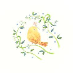 """""""Little Yellow Bird and Vine"""" −RiLi, picture book, illustration, design…"""