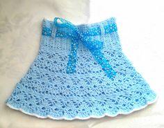 Niebieska spódniczka - Fantazja-handmade - Spódniczki dla dziewczynek