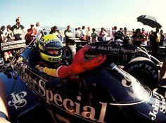 Ayrton Senna , Elio de Angelis Lotus - Renault 1985