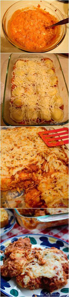 Veg Pasta Recipes, Beef Recipes, Vegetarian Recipes, Dinner Recipes, Ravioli Casserole, Casserole Recipes, Italian Dishes, Italian Recipes, What's Cooking