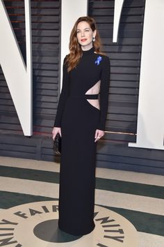 Michelle Monaghan Cutout Dress - Michelle Monaghan went the edgy route in a long-sleeve black cutout gown by Brandon Maxwell at the Vanity Fair Oscar party. Gladiator 2000, Mahershala Ali, Regina King, Jodie Foster, Anthony Hopkins, Adam Driver, Claudia Schiffer, Carrie Fisher, Golden Globe Award