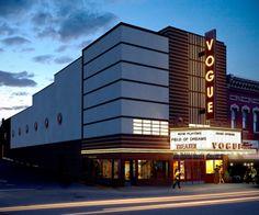 The newly renovated Vogue Theater in Manistee, MI.