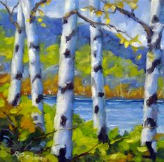 Lake View Painting by Richard T Pranke