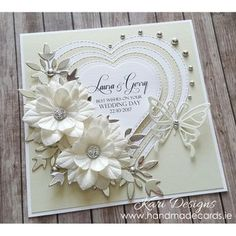 5 Simple but Gorgeous Handmade Wedding Cards Ideas- A perfect wedding can be more memorable when it is attended by families and friends or guests by common meaning. So, if you want a perfect wedding, yo. Homemade Wedding Cards, Wedding Day Cards, Wedding Cards Handmade, Wedding Anniversary Cards, Greeting Cards Handmade, Homemade Cards, Handmade Engagement Cards, Handmade Anniversary Cards, Wedding Card Design