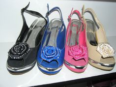 Colored Wedge w/ Flower- $69.99 various colors and sizes available!!! Retail $89.99