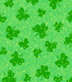 Holiday Inspirations-Clover Scramble Glitter | St. Patrick's Day Fabric