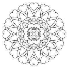 She loves to color. Such pretty patterns. Free printable mandala coloring pages