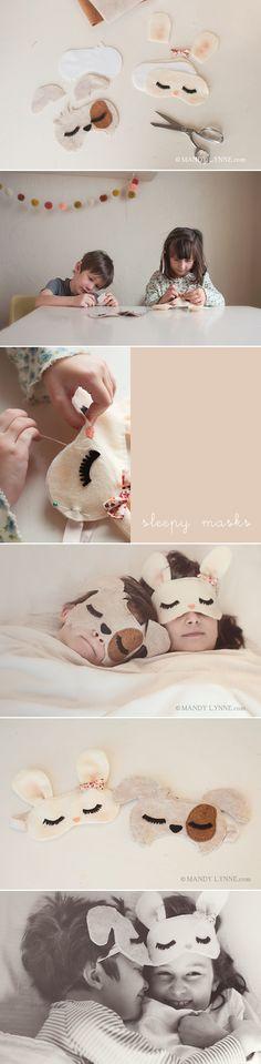 DIY Pour le sommeil des enfants. (http://blog.mandylynne.com/sleepy-masks/)