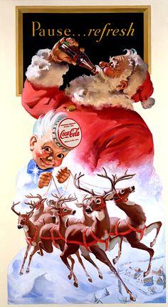 Santa illustration for Coca-Cola