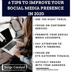 t's become increasingly essential to establish a good social media presence to grow your customer base & increase sales figures. Here are six tips to improve your social media presence in Digital Marketing Strategy, Online Marketing, Social Media Marketing, Increase Sales, What's Trending, Online Business, Improve Yourself, Entrepreneur, Success