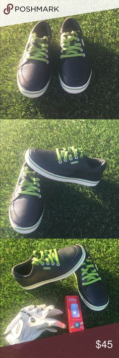 Men's Crocs golf shoes Men's leather Crocs golf shoes in great condition. Has never been worn. Very clean shoes. CROCS Shoes Athletic Shoes