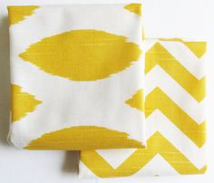 Tea Towels cotton Kitchen dish towels Yellow by DeliciousPillows, $25.50