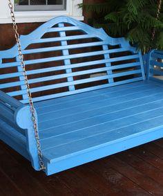 Love this Caribbean Blue Marlboro Swing Bed on #zulily! #zulilyfinds