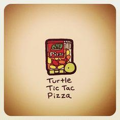 Turtle Tic Tac Pizza - @turtlewayne- #webstagram