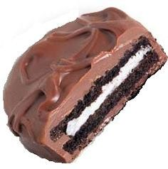Chocolate Covered Oreos- Easy! Just melt chocolate bark & dip in oreos. Let dry & put in a pretty package. YUM!