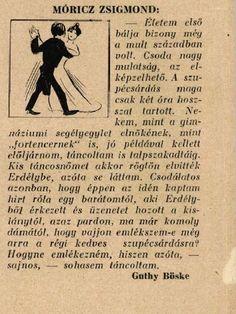 Móricz Zsigmond első bálja-vallomás