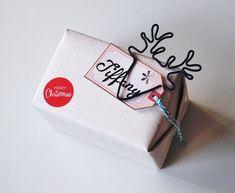 DIY paquet Noël cerf