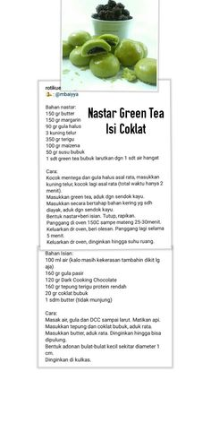 Nastar greentea