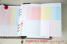 The CUTEST weekly planner printable ever!!! A must have Rainbow Planner Weekly Organizer by A Bowl Full of Lemons. Instantly downloadable!