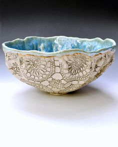 hand built ceramic bowl from Lee Wolfe Pottery