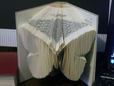 Free pattern to make a butterfly folded book.