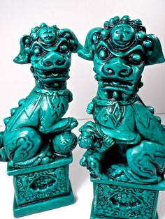 Foo Dogs Pair of Foo Dogs Chinese Guardian by CityGirlAntiques
