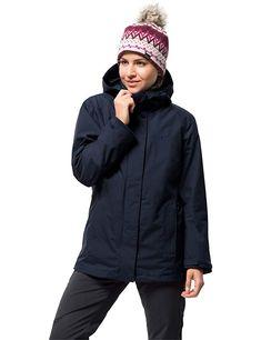 Jack Wolfskin Women's 3 in 1 Women's Jacket - Jacket Waterproof, windproof Breathable 3 In 1 Jacket, Rain Jacket, Bomber Jacket, Women Camping, Jack Wolfskin, Outdoor Woman, Windbreaker, Hiking, Winter Jackets
