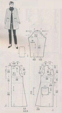 How to knit crochet hook with crochet hook in high relief flowers - Learn flower Crochet - Mizar Coat Patterns, Dress Sewing Patterns, Sewing Patterns Free, Clothing Patterns, Sewing Coat, Sewing Clothes, Diy Clothes, Japanese Sewing Patterns, Jacket Pattern